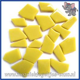 Glasmozaiek steentjes Snippets Puzzel Stukjes Normaal - Enkele Kleuren - per 50 gram - Opal Yellow