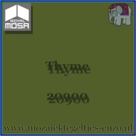 Binnen wandtegel Royal Mosa - Glanzend - 7,5 x 7,5 cm - Op maat gesneden - Thyme 20900