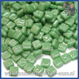 Glasmozaiek Pixel steentjes - Ottoman Normaal - 0,8 x 0,8 cm - Enkele Kleuren - per 50 gram - Meadow Green