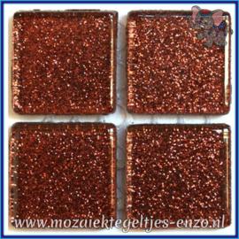 Glasmozaiek tegeltjes - Glitter - 2 x 2 cm - Enkele Kleuren - per 20 steentjes - Molasses