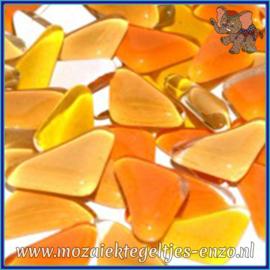 Glasmozaiek steentjes - Soft Glass Puzzles Normaal - Gemixte Kleuren - per 50 gram - Golden Sunflower