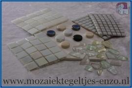 Mozaiek Kleur Pakket  Parelmoer - Wit