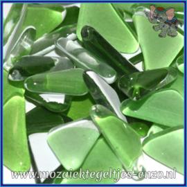 Glasmozaiek steentjes - Soft Glass Puzzles Normaal - Gemixte Kleuren - per 50 gram - Hosta Green