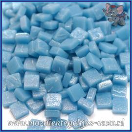 Glasmozaiek Pixel steentjes - Ottoman Matte - 0,8 x 0,8 cm - Enkele Kleuren - per 50 gram - Mid Turquoise