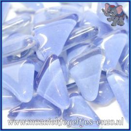 Glasmozaiek steentjes - Soft Glass Puzzles Normaal - Enkele Kleuren - per 50 gram - Baby Blue