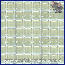 Glasmozaiek tegeltjes - Murrini Crystal - 1 x 1 cm - Enkele Kleuren - per 60 steentjes - Mini Greige