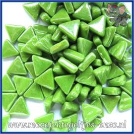 Glasmozaiek steentjes - Art Angles Parelmoer - 10 mm - Enkele Kleuren - per 50 gram - New Green
