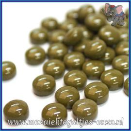 Glasmozaiek steentjes - Optic Drops Normaal - 12 mm - Enkele Kleuren - per 50 gram - Olive