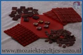 Mozaiek Kleur Pakket  Gold Line - Rood