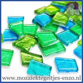 Glasmozaiek steentjes - Moonbeam Normaal - Gemixte Kleuren - per 50 gram - Avalon