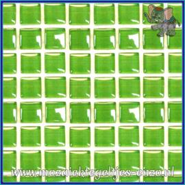 Glasmozaiek tegeltjes - Murrini Crystal - 1 x 1 cm - Enkele Kleuren - per 60 steentjes - Mini Key Lime Pie