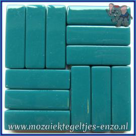 Glasmozaiek steentjes - Stix Rechthoekjes Staafjes XL Normaal - 12 x 38 mm - Enkele Kleuren - per 50 gram - Deep Teal
