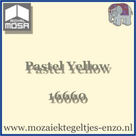 Binnen wandtegel Royal Mosa - Glanzend - 15 x 15 cm - per 44 stuks (1m2)  - Op bestelling - Pastel Yellow 18960