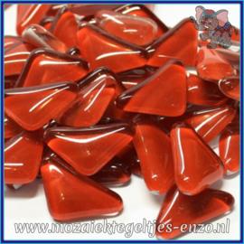 Glasmozaiek steentjes - Soft Glass Puzzles Normaal - Enkele Kleuren - per 50 gram - Red Burgundy