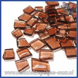 Glasmozaiek steentjes - Transparant Glass Puzzles Normaal - Enkele Kleuren - per 50 gram - Electronic Amber