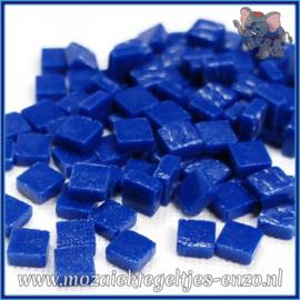 Glasmozaiek Pixel steentjes - Ottoman Matte - 0,8 x 0,8 cm - Enkele Kleuren - per 50 gram - Dark Turquoise