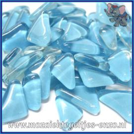 Glasmozaiek steentjes - Soft Glass Puzzles Normaal - Enkele Kleuren - per 50 gram - Turquoise