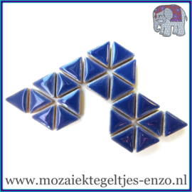 Keramische mozaiek steentjes - Triangles Driehoekjes Normaal - 15 mm - Enkele Kleuren - per 50 gram - Delphinium