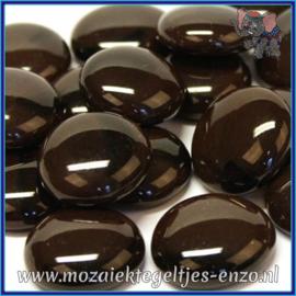 Glasmozaiek steentjes - Glasnuggets/Glasstenen Normaal - 18/22 mm - Enkele Kleuren - per 10 stuks - Coffee Marble