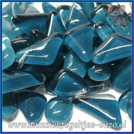 Glasmozaiek steentjes - Soft Glass Puzzles Normaal - Enkele Kleuren - per 50 gram - Seaweed
