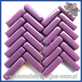 Glasmozaiek steentjes - Stix Rechthoekjes Staafjes Normaal - 6 x 20 mm - Enkele Kleuren - per 50 gram - Intense Purple