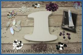 Mozaiek Kant & Klaar Pakket Piepschuim Huisnummer Groot - Cijfer 1 Paars