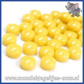 Glasmozaiek steentjes - Optic Drops Normaal - 12 mm - Enkele Kleuren - per 50 gram - Corn Yellow
