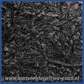 Plaatglas - Van Gogh Glass Normaal - 5 x 10 cm - Enkele Kleuren - per 1 stuk - Black Sparkle