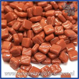 Glasmozaiek Pixel steentjes - Ottoman Normaal - 0,8 x 0,8 cm - Enkele Kleuren - per 50 gram - Chestnut