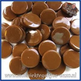 Glasmozaiek steentjes - Penny Rounds Normaal - 18 mm - Enkele Kleuren - per 50 gram - Spice