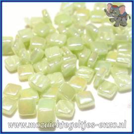 Glasmozaiek Pixel steentjes - Ottoman Parelmoer - 0,8 x 0,8 cm - Enkele Kleuren - per 50 gram - Soft Green