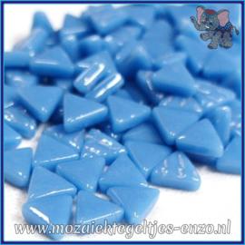 Glasmozaiek steentjes - Art Angles Normaal - 10 mm - Enkele Kleuren - per 50 gram - Lake Blue