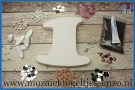 Mozaiek Kant & Klaar Pakket Piepschuim Huisnummer Groot - Cijfer 1 Roze