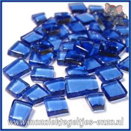 Glasmozaiek steentjes - Transparant Glass Puzzles Normaal - Enkele Kleuren - per 50 gram - Industrial Blue