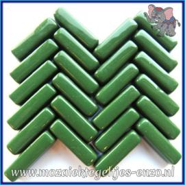 Glasmozaiek steentjes - Stix Rechthoekjes Staafjes Normaal - 6 x 20 mm - Enkele Kleuren - per 50 gram - Lush Green