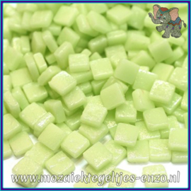 Glasmozaiek Pixel steentjes - Ottoman Matte - 0,8 x 0,8 cm - Enkele Kleuren - per 50 gram - Soft Green