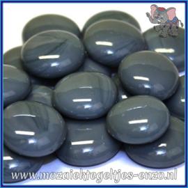 Glasmozaiek steentjes - Glasnuggets/Glasstenen Normaal - 18/22 mm - Enkele Kleuren - per 10 stuks - Grey Marble