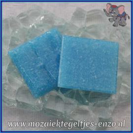 Glasmozaiek tegeltjes - Basic Line - 2 x 2 cm - Enkele Kleuren - per 20 steentjes - Turquoise A14