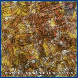 Plaatglas - Van Gogh Glass Normaal - 5 x 10 cm - Gemixte Kleuren - per 1 stuk - Copper Gold Silver