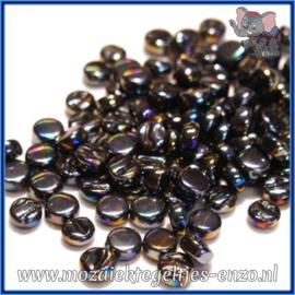 Glasmozaiek Pixel steentjes - Darling Dotz Parelmoer - 0,8 cm - Enkele Kleuren - per 50 gram - Black