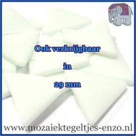 Glasmozaiek steentjes Art Angles - 10 mm - per 500 gram - Opal White