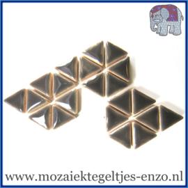 Keramische mozaiek steentjes - Triangles Driehoekjes Normaal - 15 mm - Enkele Kleuren - per 50 gram - Mid Grey