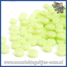 Glasmozaiek Pixel steentjes - Darling Dotz Normaal - 0,8 cm - Enkele Kleuren - per 50 gram - Soft Green