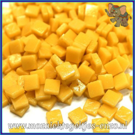 Glasmozaiek Pixel steentjes - Ottoman Matte - 0,8 x 0,8 cm - Enkele Kleuren - per 50 gram - Warm Yellow