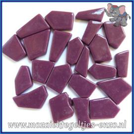 Glasmozaiek steentjes Snippets Puzzel Stukjes Normaal - Enkele Kleuren - per 50 gram - Deep Purple