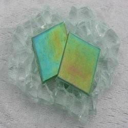 """- Nebula 2 x 2 cm - Jade-Green-""""S"""""""