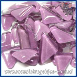 Glasmozaiek steentjes - Soft Glass Puzzles Normaal - Enkele Kleuren - per 50 gram - Orchid