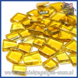 Glasmozaiek steentjes - Transparant Glass Puzzles Normaal - Enkele Kleuren - per 50 gram - Rockabilly Yellow