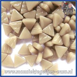 Glasmozaiek steentjes - Art Angles Normaal - 10 mm - Enkele Kleuren - per 50 gram - Khaki Grey