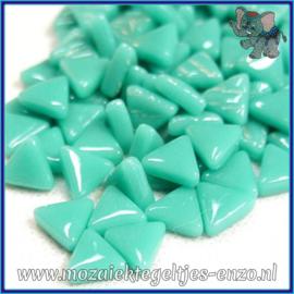 Glasmozaiek steentjes - Art Angles Normaal - 10 mm - Enkele Kleuren - per 50 gram - Teal